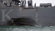 Ini kondisi kapal AS setelah ditabrak tanker