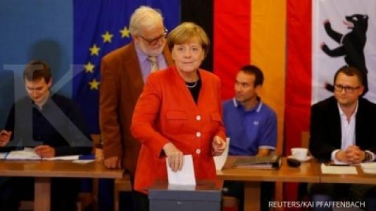 Partai Merkel menangi suara terbanyak